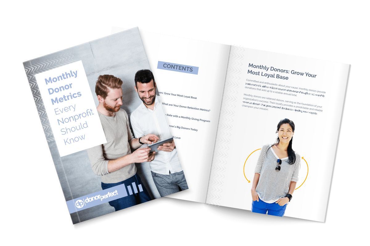 Monthly Donor Metrics Ebook Mockup